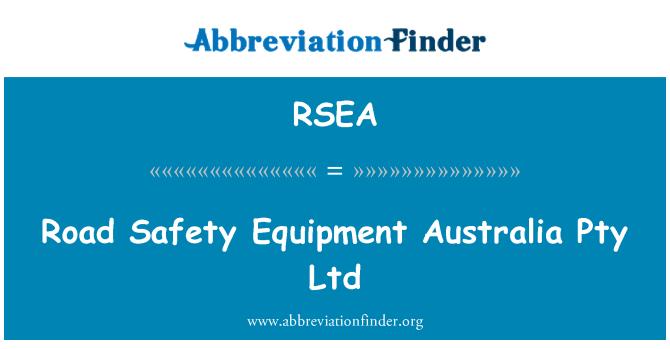 RSEA: Road Safety udstyr Australia Pty Ltd