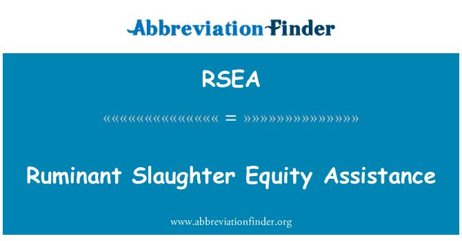 RSEA: Bantuan ekuiti sembelih Ruminan