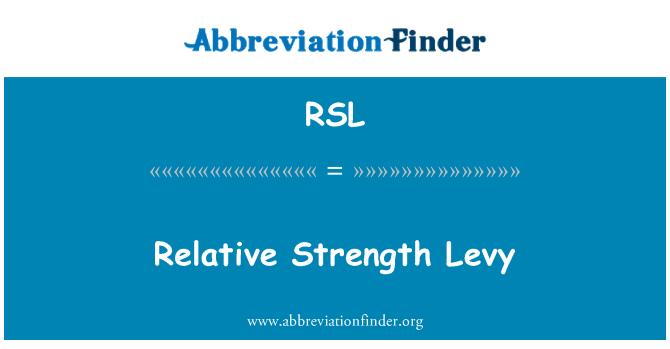 RSL: Relative Strength Levy