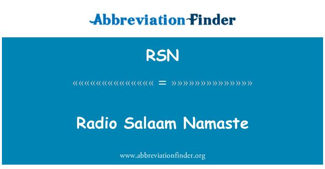 RSN: Radio Salaam Namaste