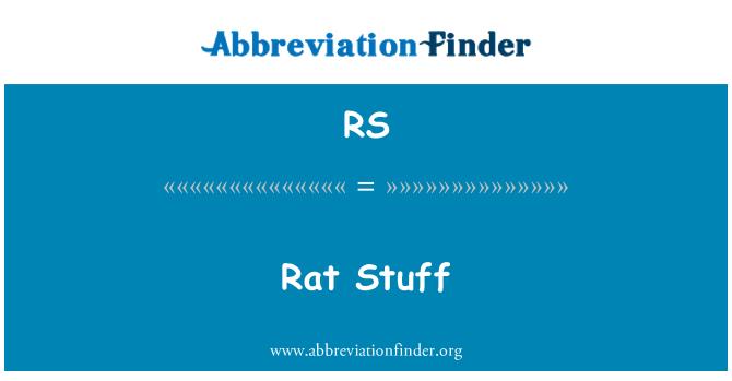 RS: Rat Stuff