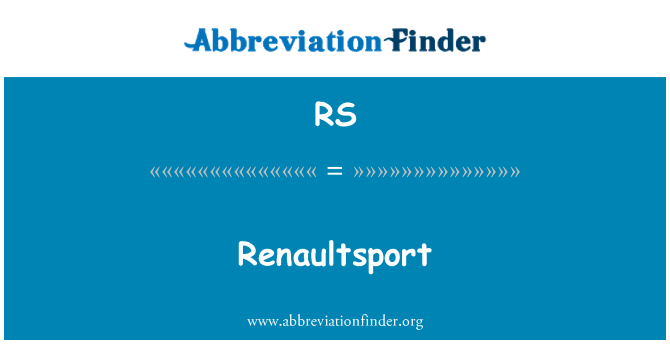 RS: Renaultsport