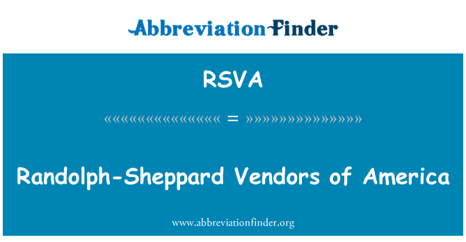 RSVA: Randolph-Sheppard Vendors of America