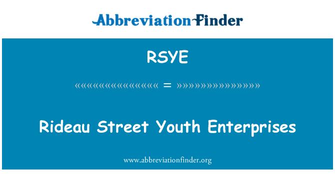 RSYE: Rideau Street Youth Enterprises