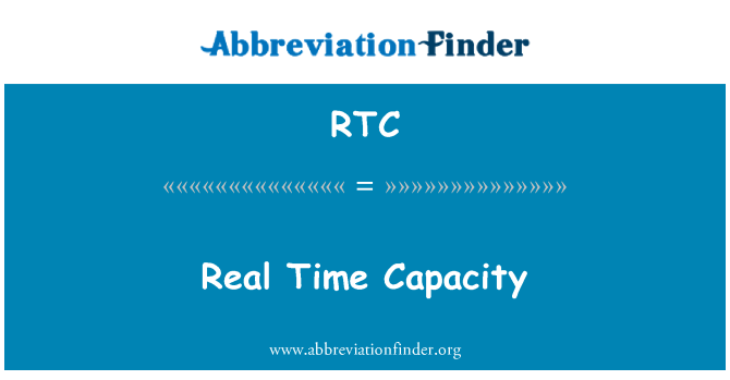 RTC: Real Time Capacity