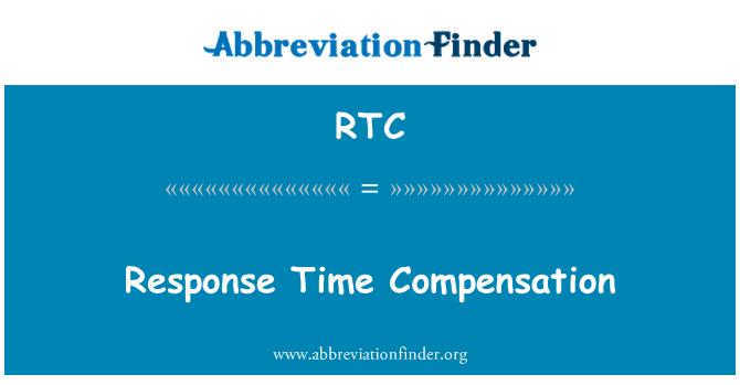 RTC: Response Time Compensation