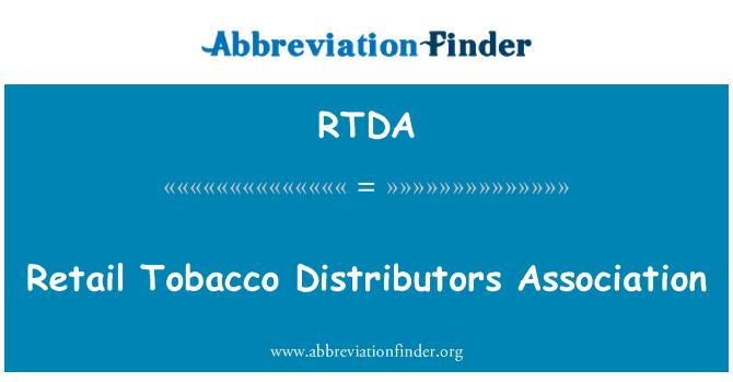 RTDA: Asociación de distribuidores de tabaco por menor