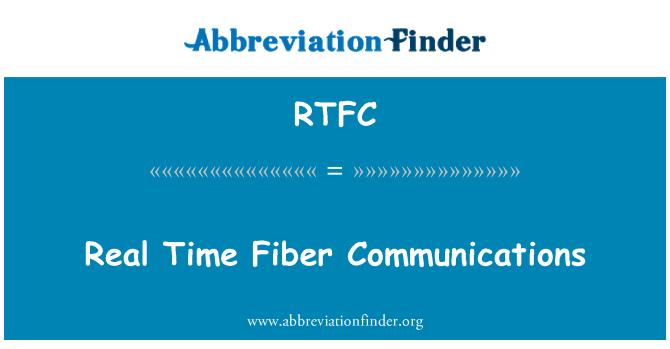 RTFC: Comunicaciones de fibra de tiempo real
