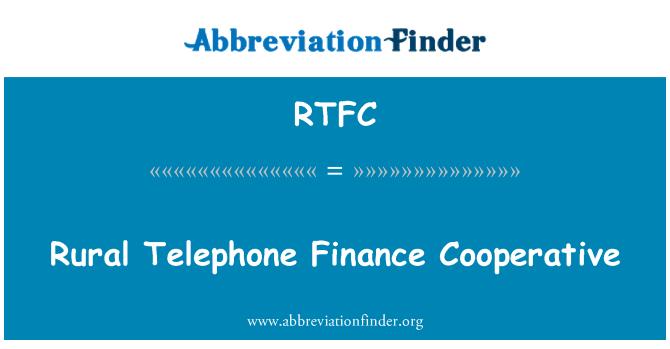 RTFC: Telefonía rural Hacienda cooperativa