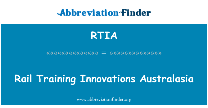 RTIA: Rail Training Innovations Australasia