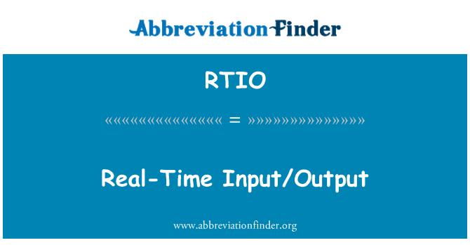 RTIO: Real-Time Input/Output