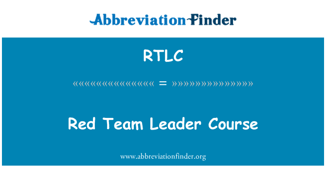 RTLC: Red Team Leader Course
