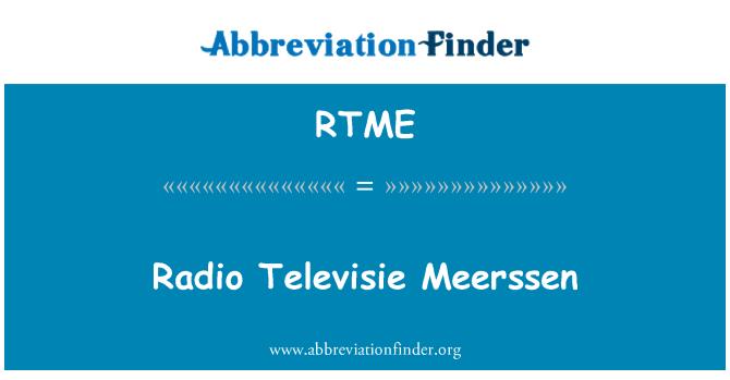 RTME: Radio Televisie Meerssen