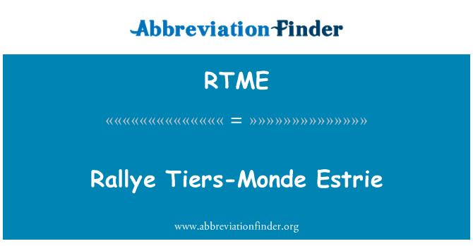 RTME: Rallye Tiers-Monde Estrie