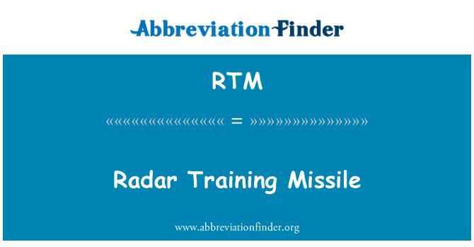RTM: Radar Training Missile