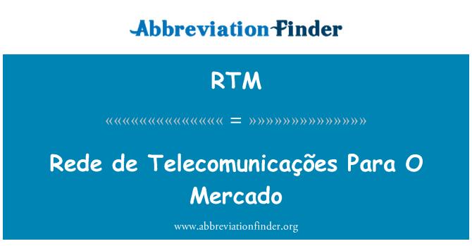 RTM: Rede de Telecomunicações Para O Mercado
