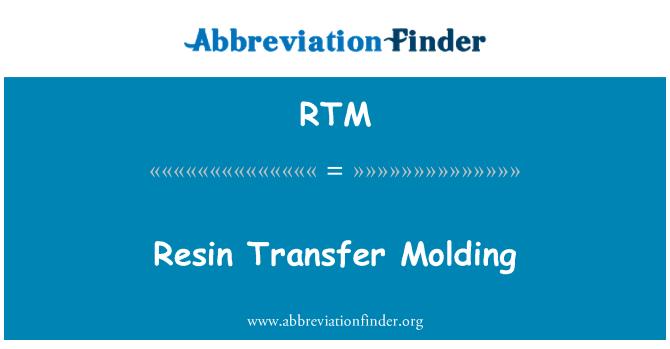 RTM: Resin Transfer Molding