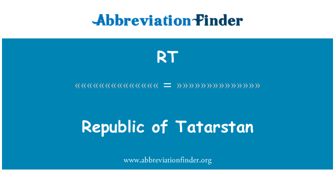 RT: Tatarstani Vabariik