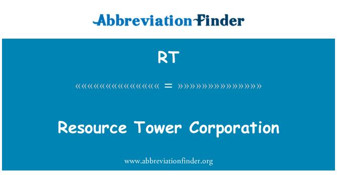 RT: Ressursi Tower Corporation