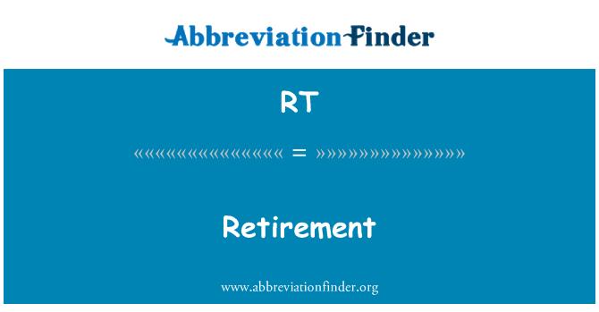 RT: Pensionile
