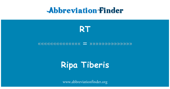 RT: Ripa Tiberis