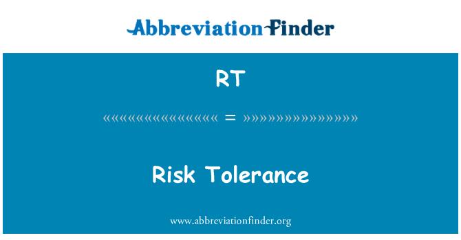 RT: Riskitaluvuse