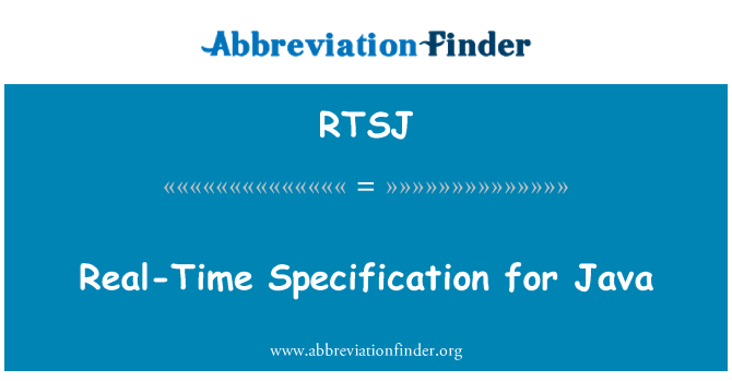 RTSJ: Real-Time Specification for Java