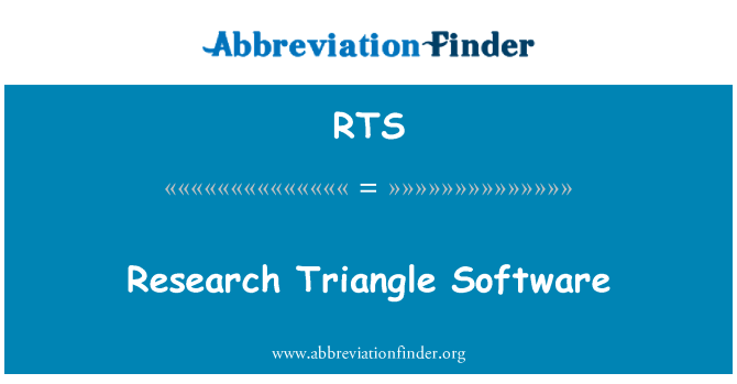 RTS: Research Triangle Software
