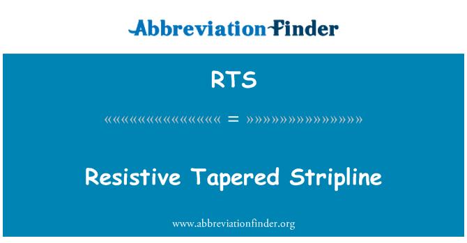 RTS: Resistive Tapered Stripline