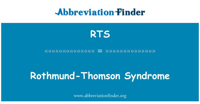 RTS: Rothmund-Thomson Syndrome