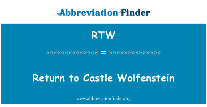RTW: Return to Castle Wolfenstein