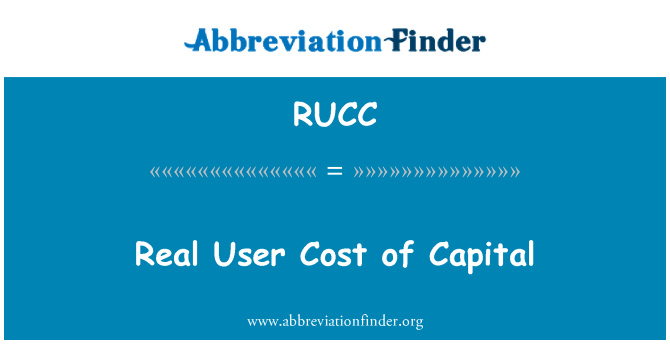 RUCC: Real User Cost of Capital