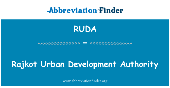 RUDA: Rajkot Urban Development Authority