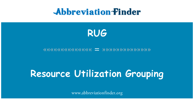RUG: Resource Utilization Grouping