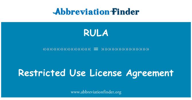 RULA: Sınırlı kullanım lisans sözleşmesi