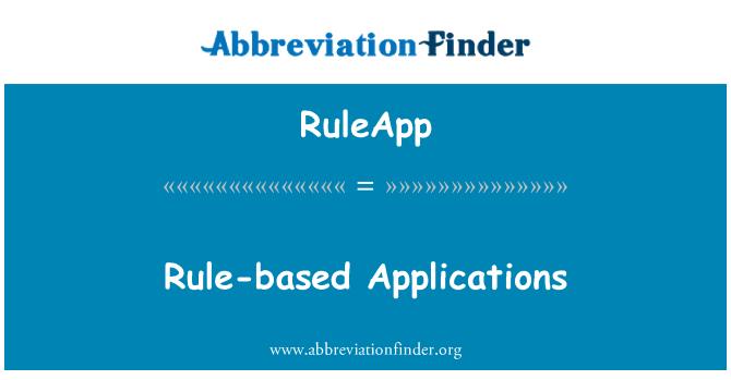 RuleApp: Rule-based Applications