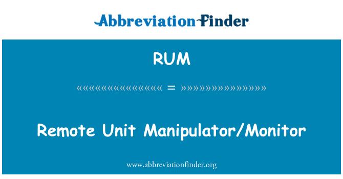 RUM: Remote Unit Manipulator/Monitor