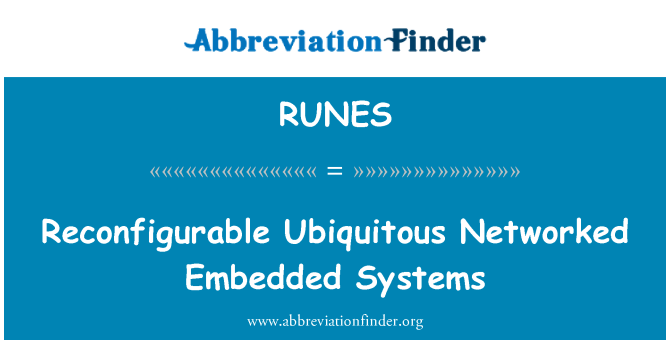 RUNES: Reconfigurable Ubiquitous Networked Embedded Systems