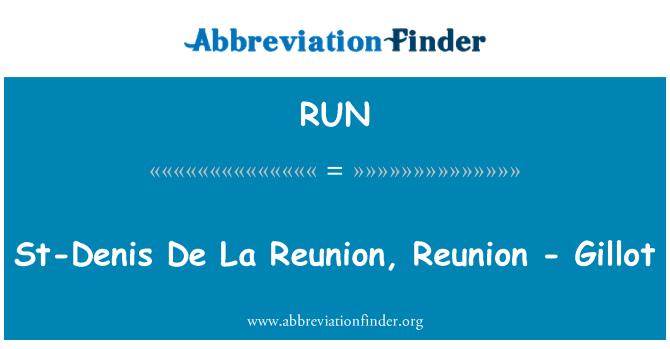 RUN: St-Denis De La Reunion, Reunion - Gillot