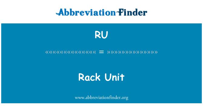 RU: Rack Unit