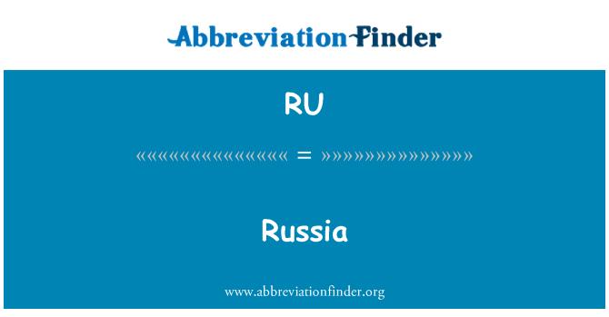 RU: Russia