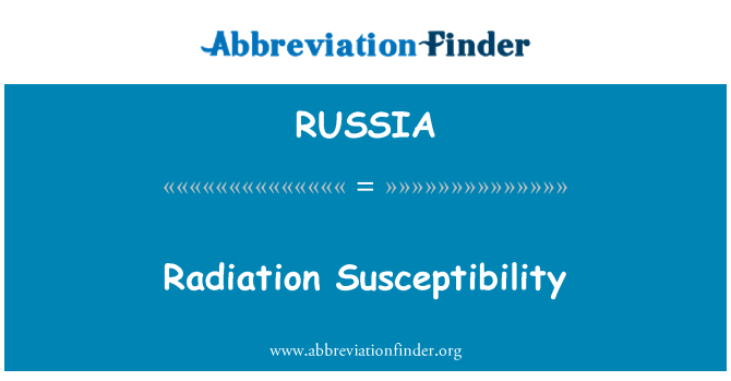 RUSSIA: Susceptibilidad de radiación