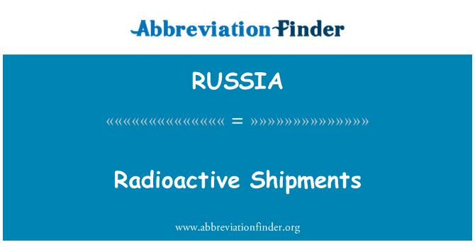 RUSSIA: Embarques radiactivos