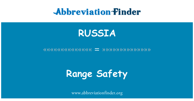 RUSSIA: Gama de seguridad