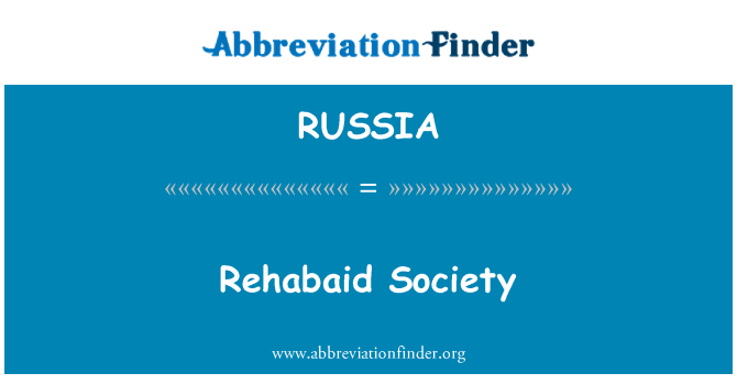 RUSSIA: Sociedad Rehabaid