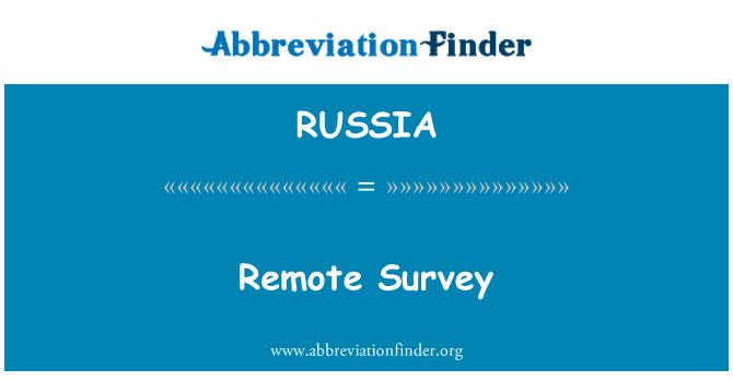 RUSSIA: Encuesta remota