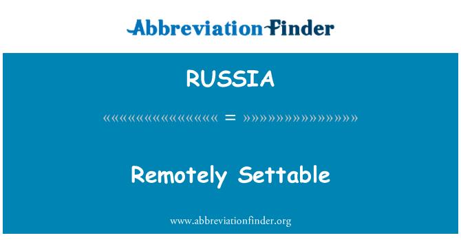 RUSSIA: Configurable remotamente