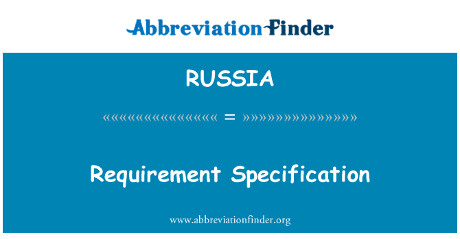 RUSSIA: Especificación de requisitos