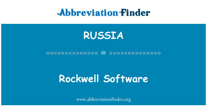 RUSSIA: Rockwell Software