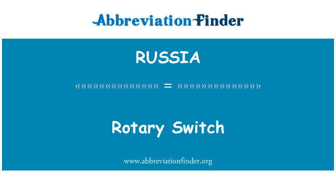 RUSSIA: Interruptor rotatorio